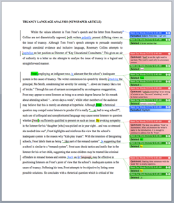Language analysis essays